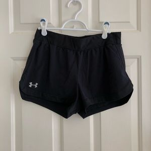 Under Armour Fitted Heatgear Shorts, Small Black
